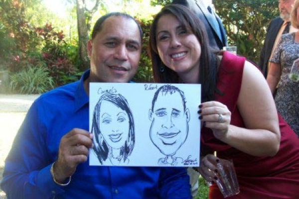 Jeff Sterling Party Caricature