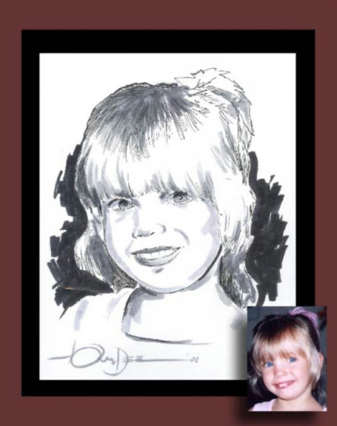 Gift caricature by Tony 'Dee' Di Gregorio