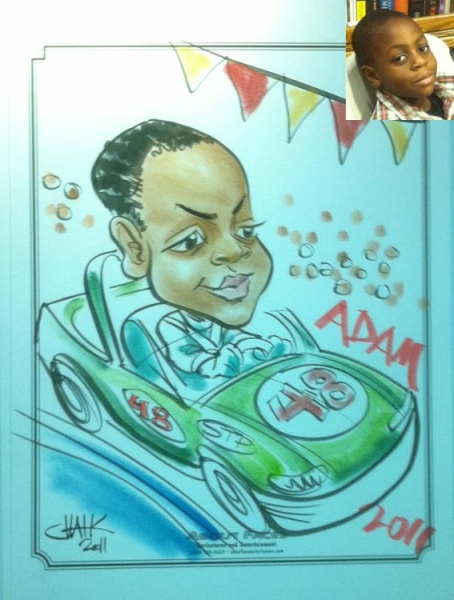 Tom Chalkley Party Caricature