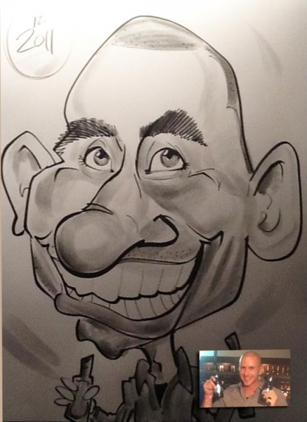 Suzanne Walker Party Caricature