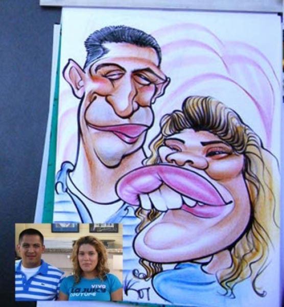 Party caricature by Nate Kapnicky