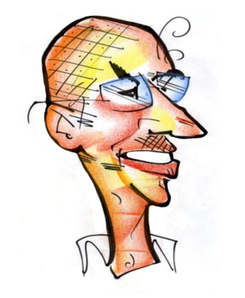 Mike Newsome Party Caricature