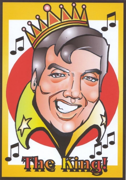 Gus St Anthony Studio Caricature of Elvis Presley