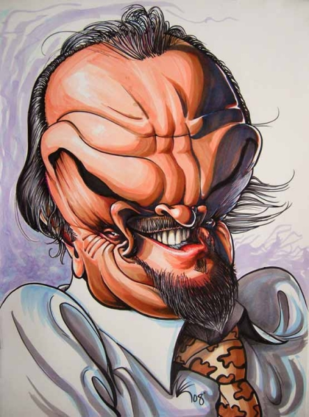 Studio caricature by Nate Kapnicky of Jack Nicholson