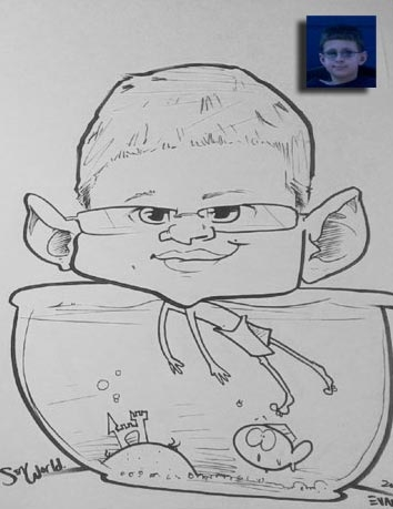 Sean Evans Party Caricature