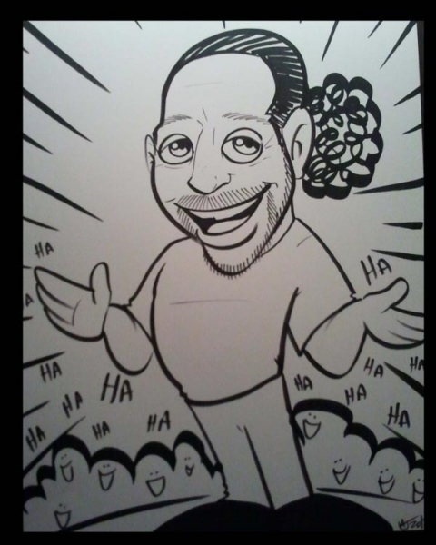 Michael McElroy Party Caricature