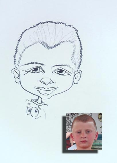 Tica McGarity Party Caricature