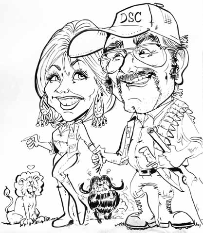 Cory Carlson Party Caricature