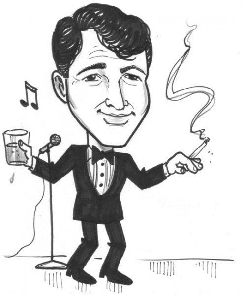 Mike Valentine Party Caricature