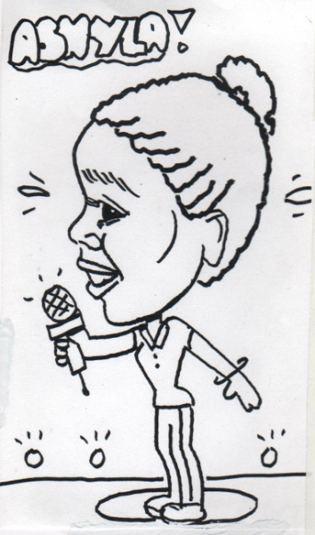 Nancy Hartman Party Caricature