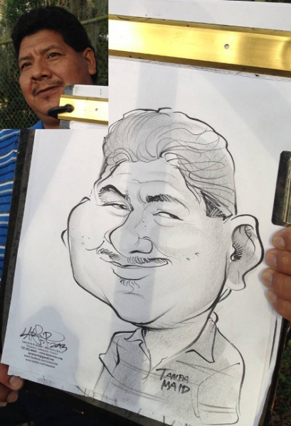 LarsErik Robinson Party Caricature