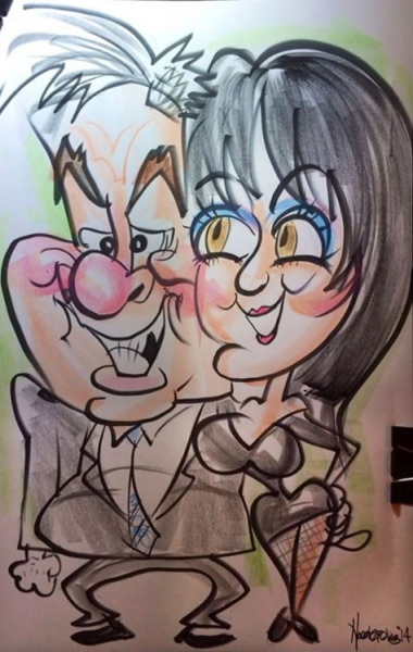 Patrick Harrington Party Caricature