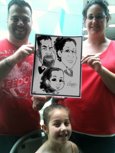 Jeffrey Carrier Party Caricature