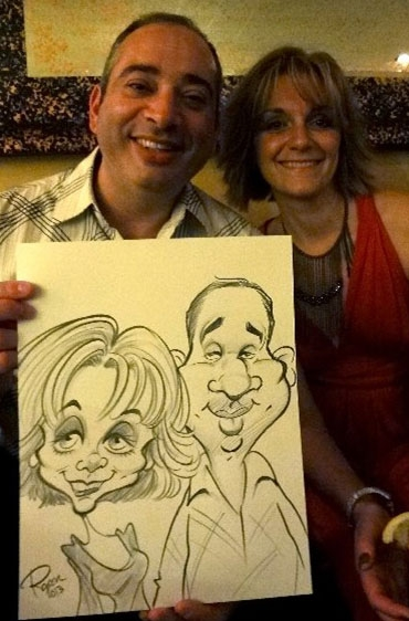 Roger Hurtado Party Caricature