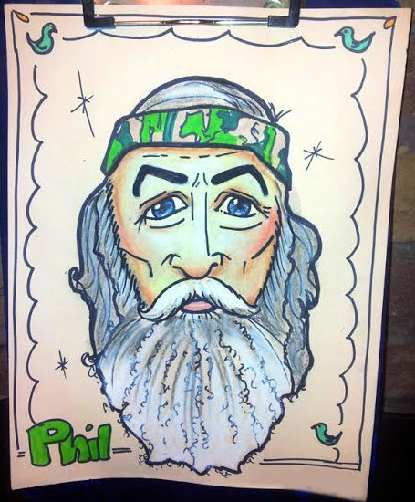 Carol Forsythe Studio Caricature Phil Duck Dynasty
