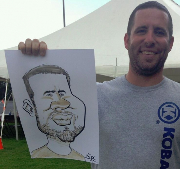 Bat Hilliard Party Caricature
