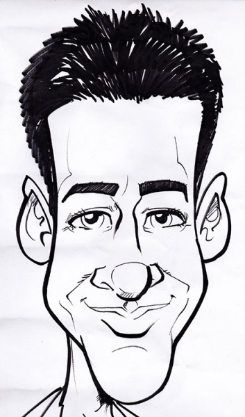 Vince Hall Party Caricature