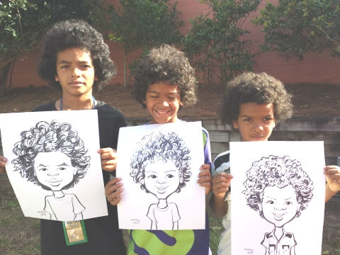 Mary Kay Williams Party Caricature