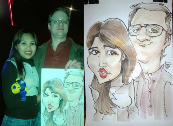 Marc Hubbard Party Caricature
