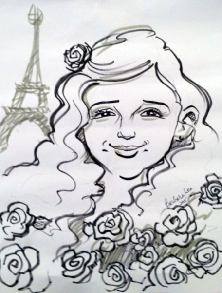 Barbara Leo Party Caricature