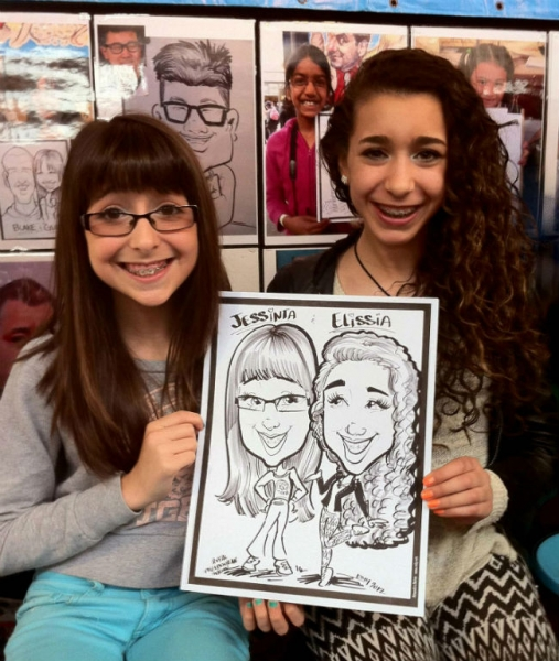 Esly Carrero Party Caricature