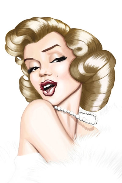 Esly Carrero Studio Caricature of Marilyn Monroe