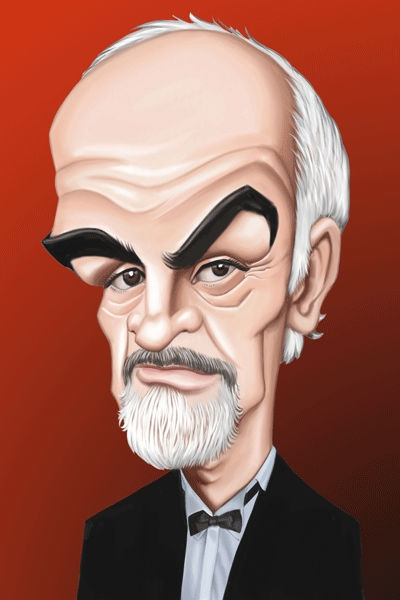 Esly Carrero Studio Caricature of Sean Connery