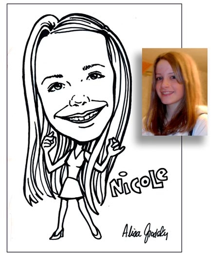 Alisa Grodsky Party Caricature
