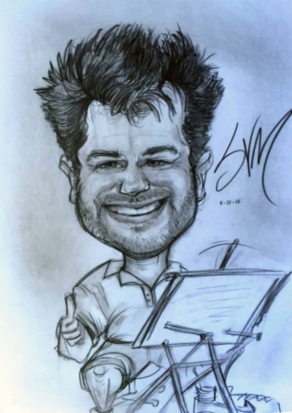 Sam von Mayrhauser Party Caricature