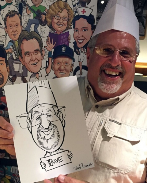 Robert Bauer Party Caricature