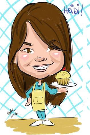 Sarah Heng Digital Party Caricature