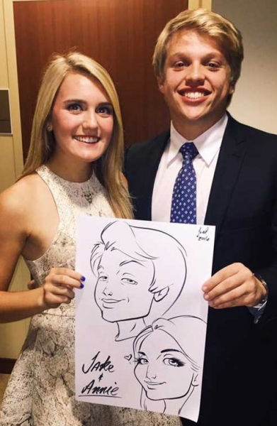 Joel Natal Party Caricature