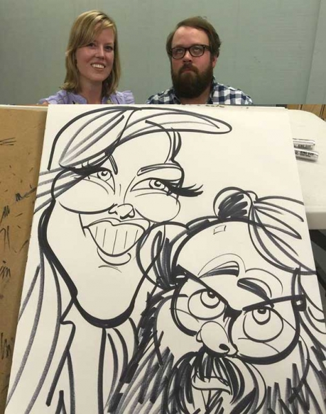 Dave Washburn Party Caricature