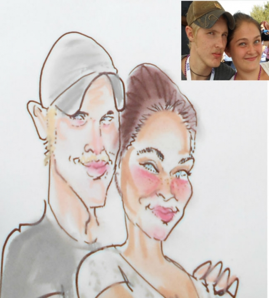 Steve Bridges Party Caricature