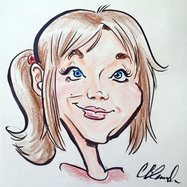 Catherine Blanch Party Caricature