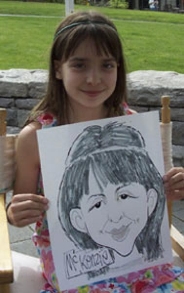 Party caricature by Bradd Aubry