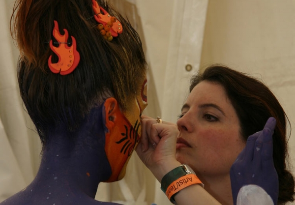 Face painting by Deborah Brommer