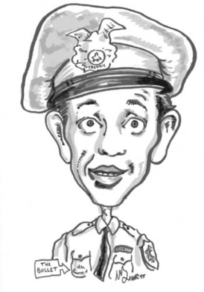 Don Knotts caricature by Mike Barnett