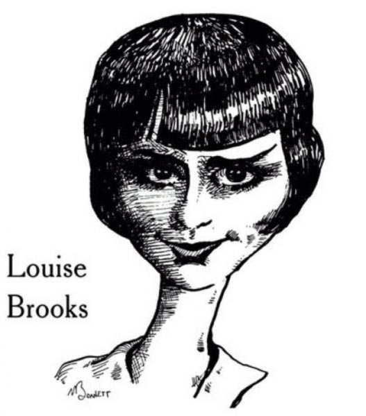 Louise Brooks caricature by Mike Barnett