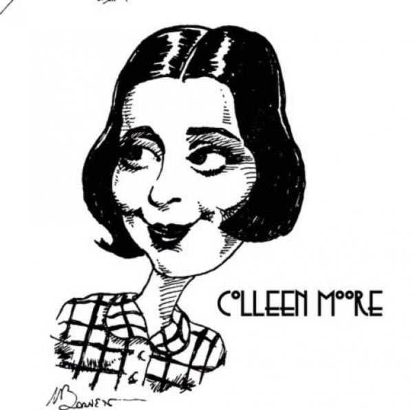 Colleen Moore caricature by Mike Barnett