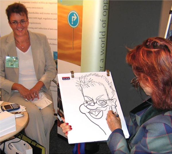 Soozi Harrison Party Caricature