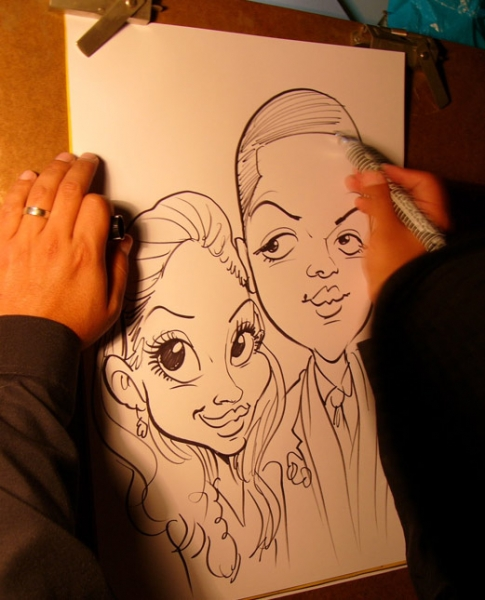Victor Payes Party Caricature