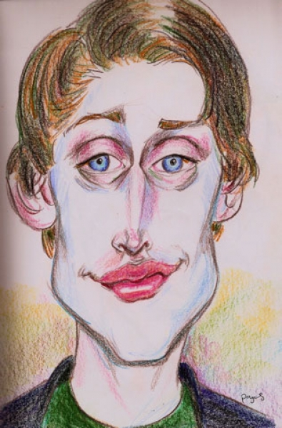 Victor Payes Studio Caricature of Macculley Culkin