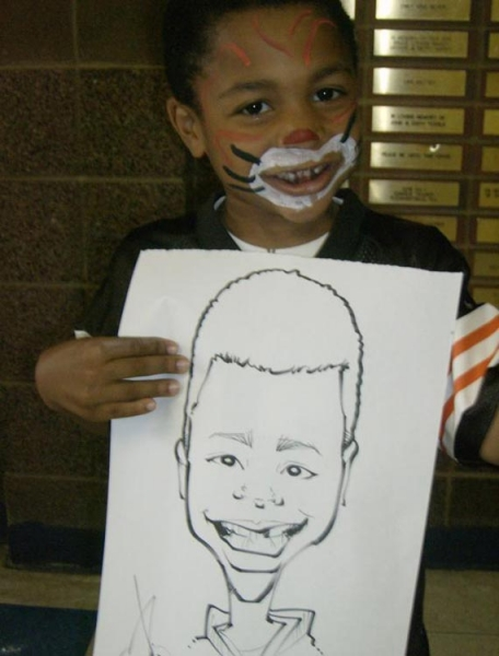 Nicko Dahlstrom Party Caricature