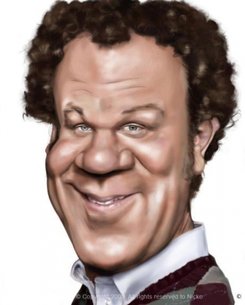 Nicko Dahlstrom Studio Caricature of John Reilly