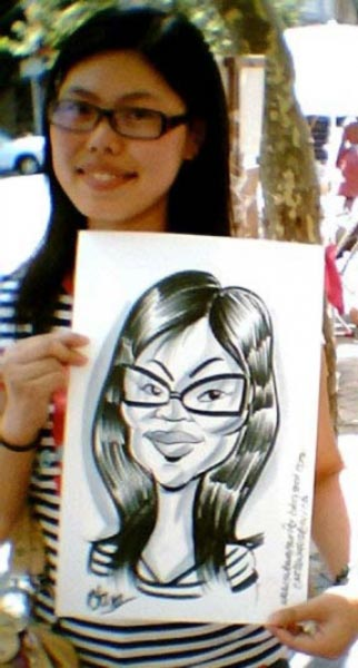 Party caricature by Elgin Bolling