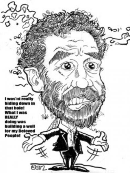 Saddam Hussein caricature by Elgin Bolling