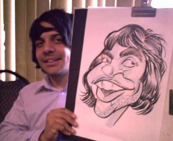 Studio caricature by Elgin Bolling