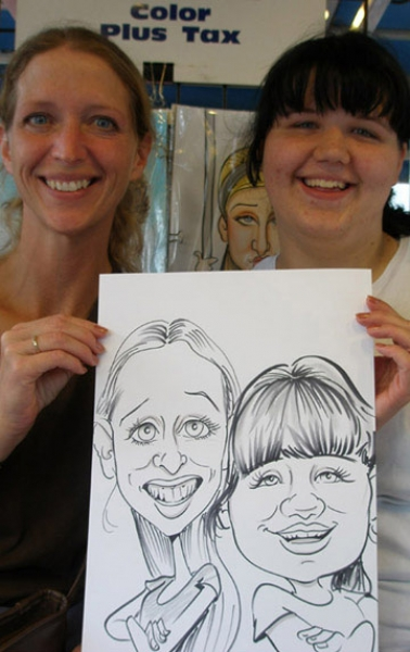 Rachel Murphy Party Caricature