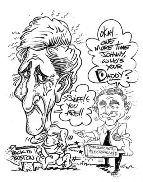 George W Bush caricature by Elgin Bolling